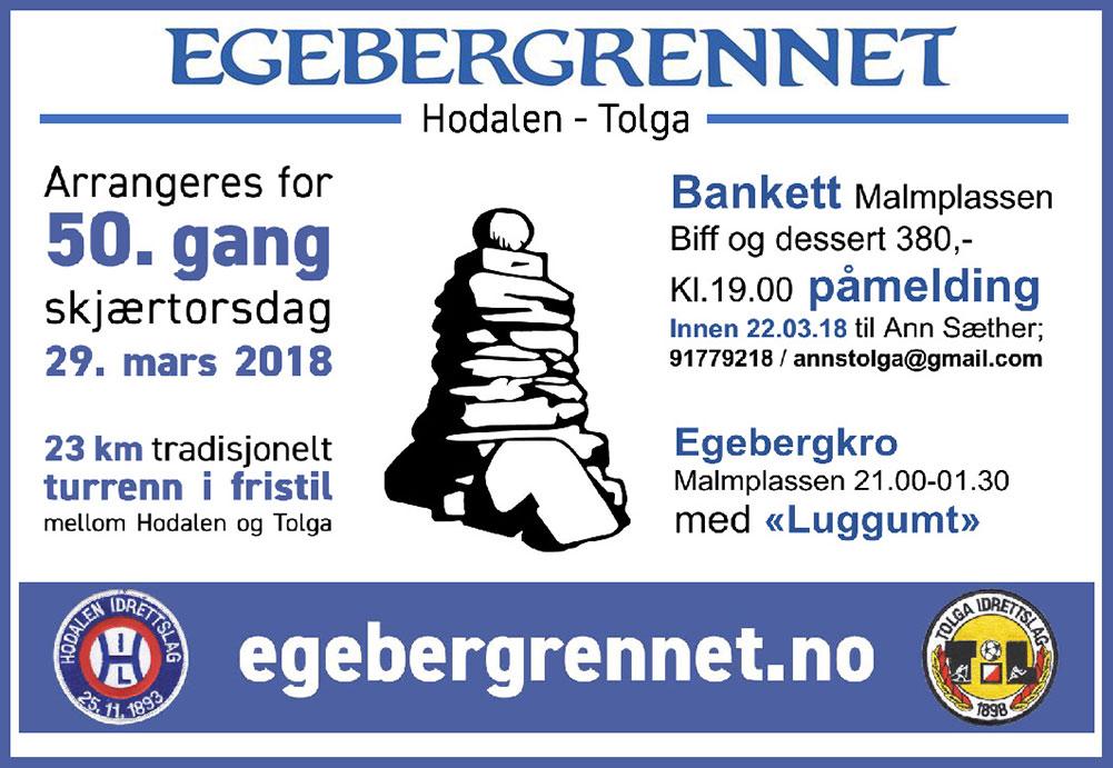 Egebergrennet - Bankett og kro