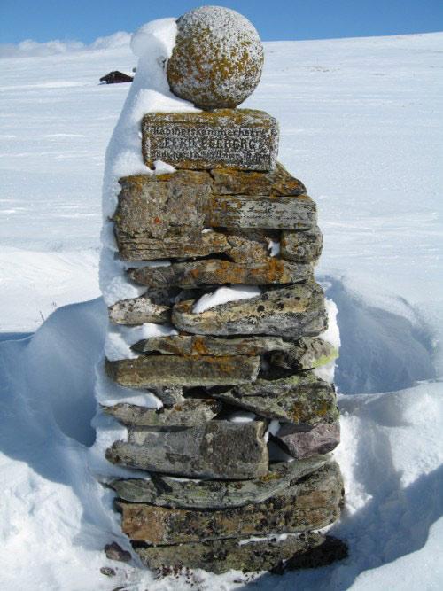 Egebergstøtta. Vinter. Foto: Egebergrennet